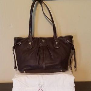 Tignanello Brown Shoulder Bag. 3 Sections.